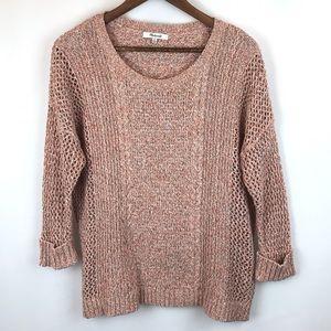 Madewell peachy lightweight sweater